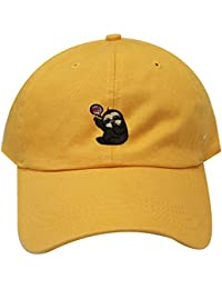7fd3d5352af C104 Hi Sloth Cotton Baseball Dad Caps 26 Colors · City Hunter