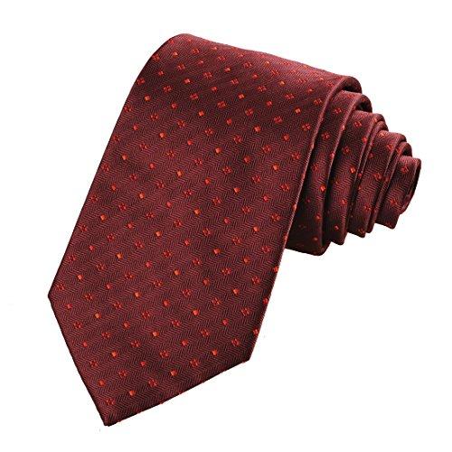 - Ties for Men Burgundy Red Dots Necktie by KissTies