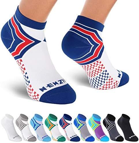 NEWZILL - Low Cut Compression Socks (15-20 mmHg) for Men & Women