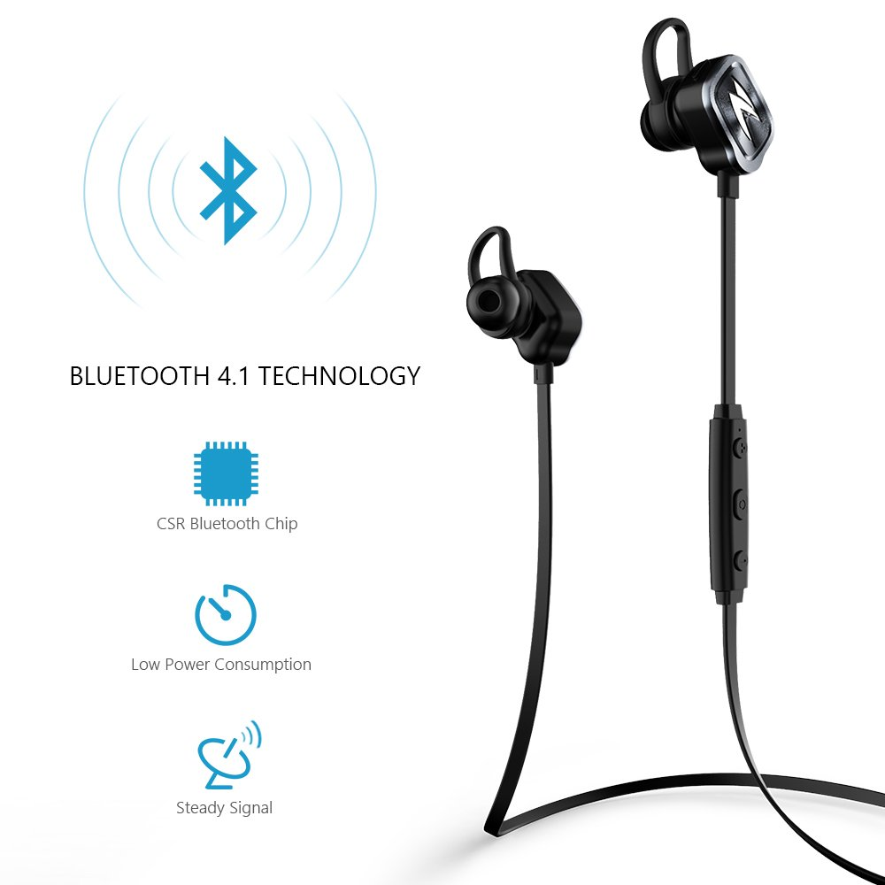Freego Skylark Bluetooth Auriculares 4.1 Wireless Stereo Headset auriculares en Ear Handsfree Headphones con micrófono for Apple iPhone 7 6S 6 Plus 6S Plus ...
