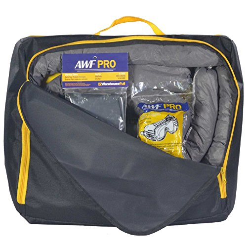(Portable Universal Spill Kit, Contains 20 Sorbent Pads, 3 Sorbent Socks, Disposal Bags, Goggles and Chemical Gloves. Packed in a HD Nylon Bags)