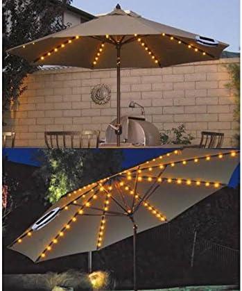 72 luces LED que funcionan con energía solar para sombrilla de jardín; riostra/cadena de luz con 8 luces de Navidad.: Amazon.es: Hogar