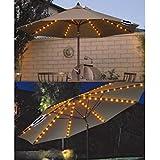 72 LED SOLAR POWERED GARDEN PARASOL UMBRELLA CHAIN LIGHT 8 STRUT FAIRY LIGHTS