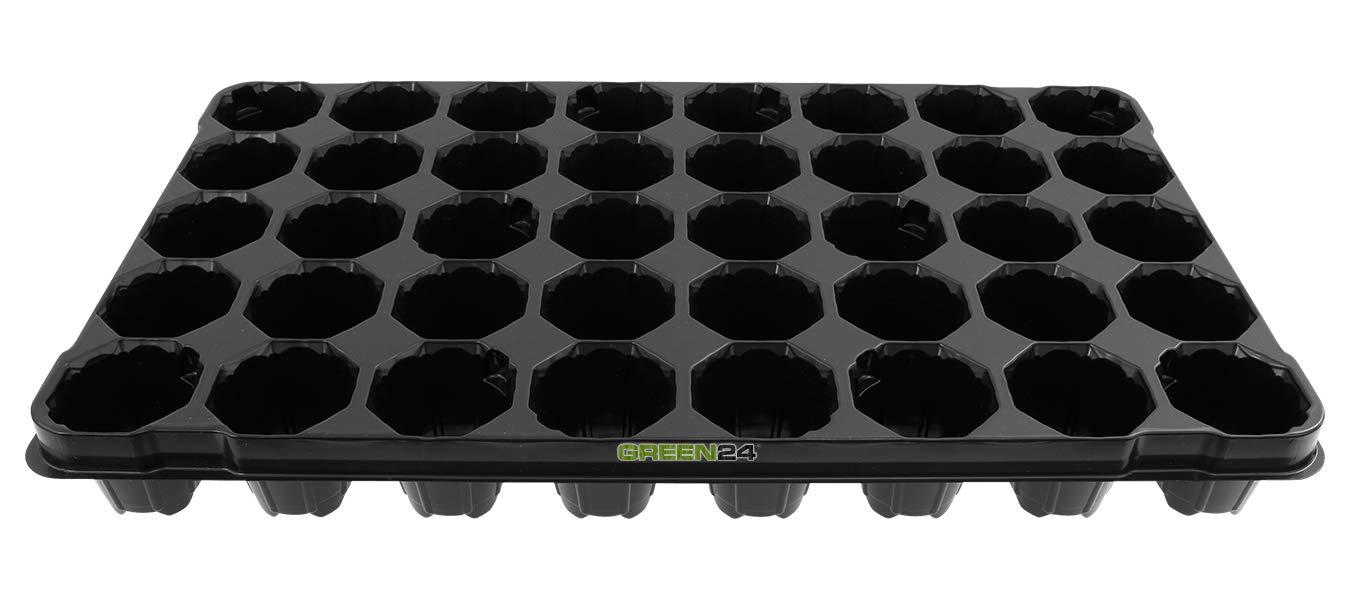 GREEN24 Anzuchtplatte Topfplatte mit 40 Pflanzt/öpfen 40er Topfpalette Blument/öpfe Pflanzt/öpfe