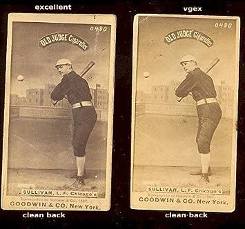 1887 Old Judge N172 Regular Baseball Card 444 Marty Sullivan Of