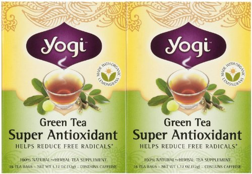 Yogi Tea Green Tea Super Antioxidant, Herbal Supplement, Tea Bags, 16 ct, 2 pk by Yogi Teas