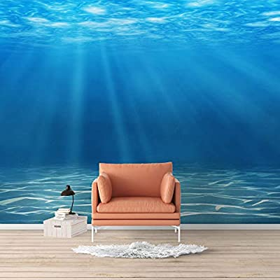 Amazing Design, Made With Top Quality, Wall Mural Blue Ocean Deep Sea Removable