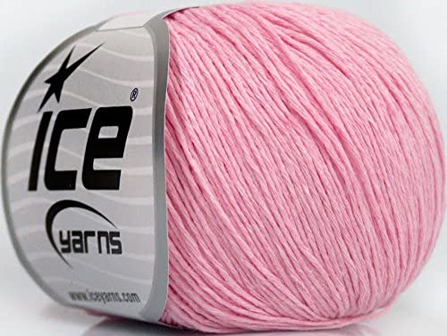 Lote de 8 madejas hilo hilos Natural algodón bebé de hielo (100% algodón), color rosa: Amazon.es: Juguetes y juegos