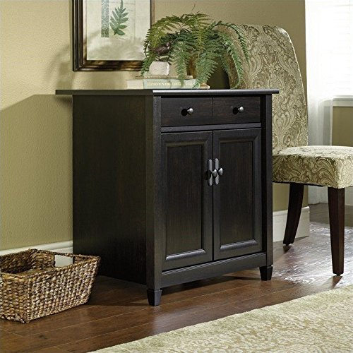 sauder-edge-water-utility-cart-free-standing-cabinet-estate-black-finish