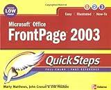 Microsoft Office FrontPage 2003 QuickSteps, Martin Matthews and John Cronan, 0072258748