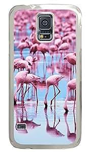 Samsung Galaxy S5 Pink Flamingos PC Custom Samsung Galaxy S5 Case Cover Transparent