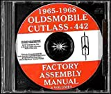 OLDSMOBILE CUTLASS, 442 & F85 1965 1966 1967 1968 FACTORY ASSEMBLY MANUAL CD - Including Standard, Supreme, Sedan, Coupe, Convertible and Station Wagon 65 66 67 68