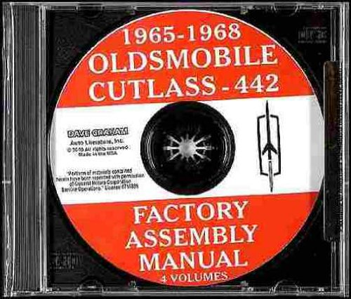 OLDSMOBILE CUTLASS, 442 & F85 1965 1966 1967 1968 FACTORY ASSEMBLY MANUAL CD - Including Standard, Supreme, Sedan, Coupe, Convertible and Station Wagon 65 66 67 (Oldsmobile Cutlass Supreme Manual)
