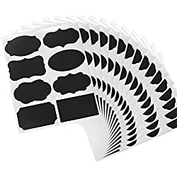FOONEE 15 Sheets/120 Pcs Reusable Removable Chalkboard Labels Waterproof Jar Chalkboard Label Stickers for Mason Jars Bottles DIY