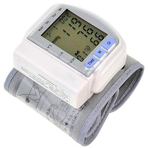 wei-d Wrist Blood Pressure Monitor and with Digital LCD Display for Home Use Wristband Electronic Sphygmomanometer , White