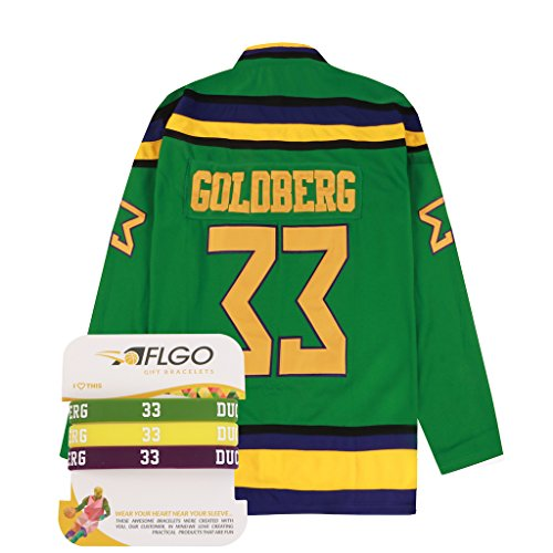 AFLGO Greg Goldberg 33 Mighty Ducks Hockey Jersey