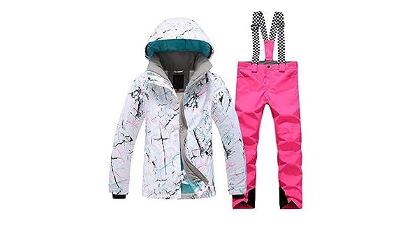 4 Colores Traje de Nieve de Snowboard Grueso y Impermeable LYJNBB Traje de esqu/í de Invierno para Mujer Chaquetas y Pantalones
