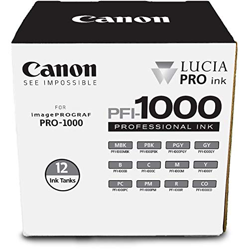 Ink Tank Matte - Canon Lucia PRO PFI-1000 12 Ink Pack for imagePROGRAF PRO-1000 (0545C006)