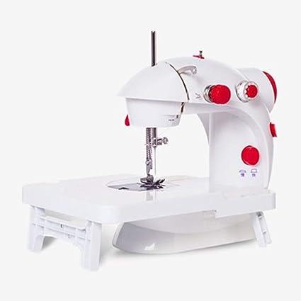 LULUKEKE Mini máquina de Coser, máquina de Coser automática de la Velocidad 202A Doble con