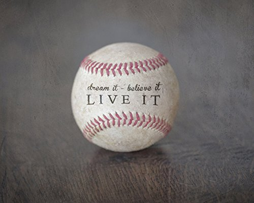 Quote Kids Baseball - Inspirational Sports Quote Print Photo (8x10) Unframed - Great Baseball Gift for Boy's Room Decor