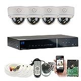 GW Security 4 Channel HDMI CCTV DVR Outdoor / Indoor Security Camera System with (4) 1000TVL Varifocal Zoom Surveillance Cameras