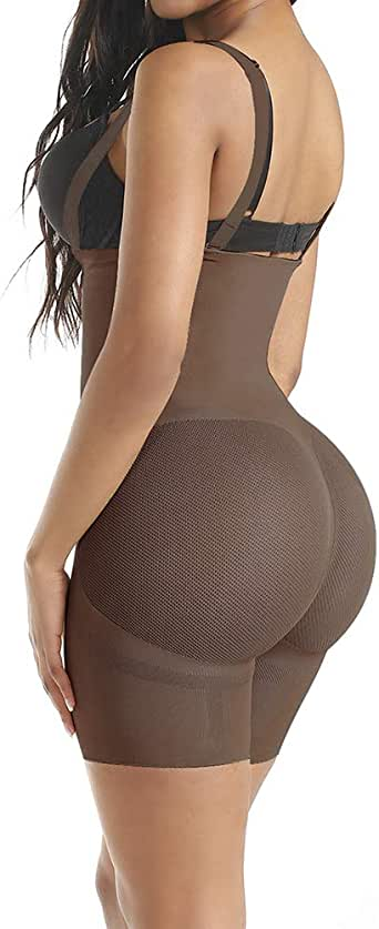 FETCHSHE Women Seamless Firm Tummy Control Shapewear Bodyshaper Sheer Mesh Butt Lifter Bodysuit Waist Trainer Corset