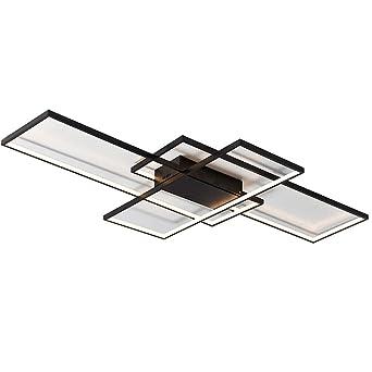 LED Deckenleuchte Deckenlampe Dimmbar mit Fernbedienung Modern Ring  Rechteck Design Decken Licht für Wohnzimmer Schlafzimmer Küche Esszimmer  Büro ...