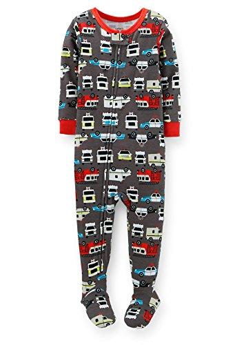 Carter's Baby Boys 1 Piece Snug Fit Cotton Firetruck Pajamas (12-24 Months) (18 Months)
