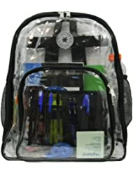 Ddi 17' Deluxe 0.5 Mm Super Heavy Duty Vinyl See Through Pvc Clear Backpack-Lm213 (pack Of 20)