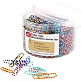 Paper Clips, 500 Pieces Colorful Striped Paperclips, Medium 28mm and Jumbo Sizes 50mm, Office Clips for School Personal Document Organizing and Classifying Professional Work