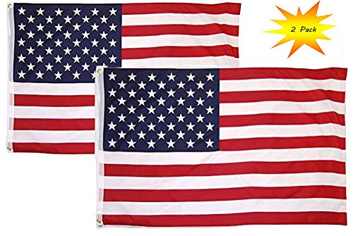 K's Novelties American Flag 3x5 Feet Set of 2 America USA Fl