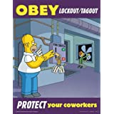 Obey Lockout Tagout Protect Your Coworkers - Simpsons Lockout Tagout Safety Poster