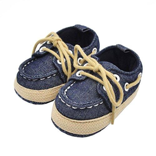 Morrivoe niño bebé niños niñas suave único encaje zapatos Prewalker cuna zapato niño zapatillas de deporte al aire...