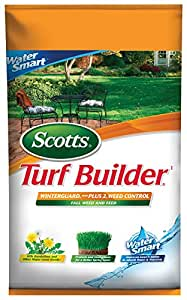 Scotts–Fertilizante para césped constructor césped alimentos–Winterguard caída hierba y piensos, 5,000-sq ft (césped fertilizantes Plus Diente & herbicida)