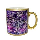 Steampunk Schematics Colorpop Metallic Gold Sparkle Coffee Mug
