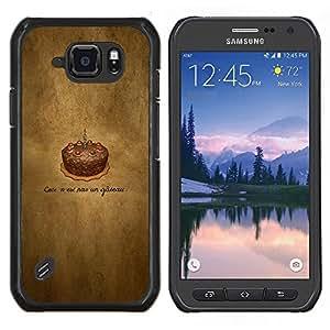 EJOOY---Cubierta de la caja de protección para la piel dura ** Samsung Galaxy S6Active Active G890A ** --Cake Chotolate Cumpleaños