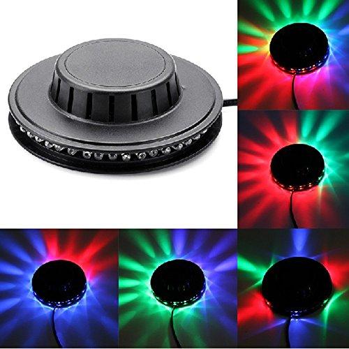 Soondar 48-LED RGB Stage Lighting + Speaker(Support USB Flash Disk UP TO 8G) + Remote Control + USB Disk Best for Party, DJ Light Effect US Plug - Black