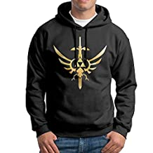 MSRIOUCEJK Men's Zelda Skyward Sword Hoodie-Black