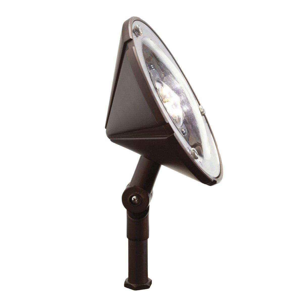 Kichler Lighting 15861BBR Landscape Wash LED Flood Light, Bronzed Brass