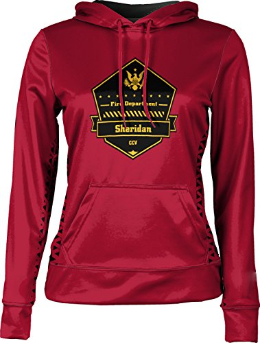 Price comparison product image ProSphere Girls' Cane Creek Volunteer Fire Department Geometric Pullover Hoodie