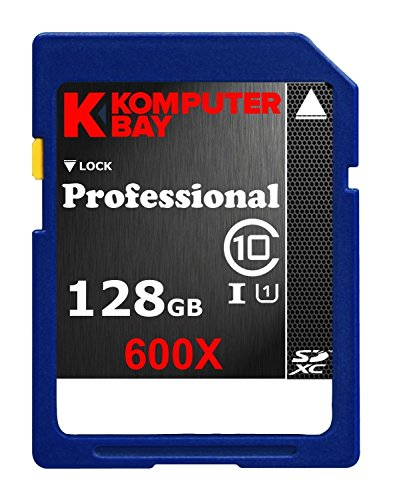 (Komputerbay 128GB SDXC Secure Digital Extended Capacity Speed Class 10 600X UHS-I Ultra High Speed Flash Memory Card 60MB/s Write 90MB/s Read 128 GB)