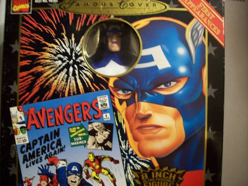 Marvel Famous Covers - Captain America MIB Nr! by Toy Biz - Marvel Comics Famous Covers