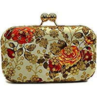 Tooba Handicraft Party Wear Beautiful Bling Box Clutch Bag Purse For Bridal, Casual, Party, Wedding