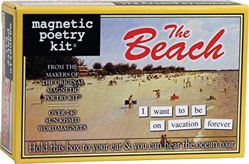 Poesía magnética - El kit de playa - Palabras para refrigerador - Escribir poemas y letras en la nevera - Hecho en los Estados Unidos