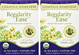 Lifestyle Awareness, Regularity Ease w/ Activating Senna Leaf, Caffeine Free, Organic, 20 Count / 2 Pack