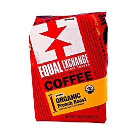 Equal Exchange Organic Drip Coffee - French Roast - Case of 6 - 10 oz. 3 This dark gem is full of chocolaty richness With a subtle smoky flavor. Coffee