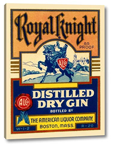 Royal Knight Distilled Dry Gin by Vintage Booze Labels - 18
