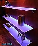 LED Lighted Floating Shelf - 7' Long x 4.5'' Deep w/ Power Supply & LED Controller
