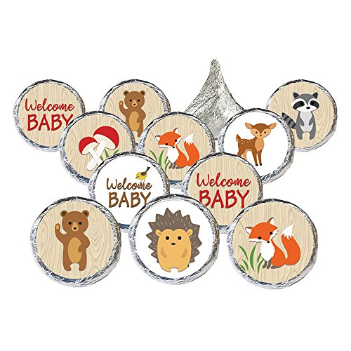 Woodland Animals Baby Shower Favor Stickers (Set of 324)