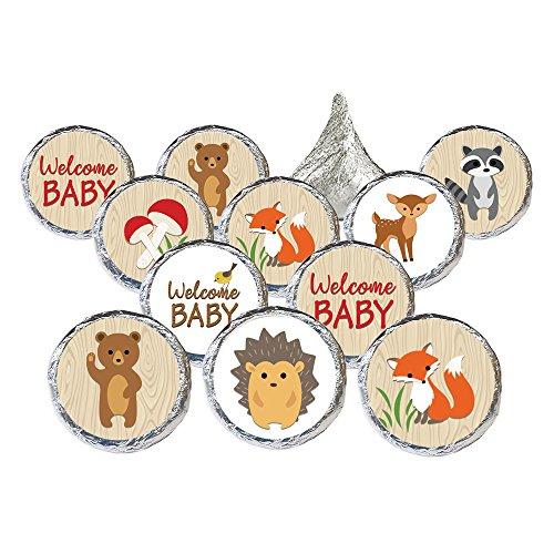 Woodland Animals Baby Shower Favor Stickers (Set of 324) -